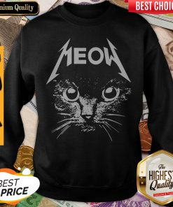 Pretty Great Metallica Meowtalica Black Cat Sweatshirt