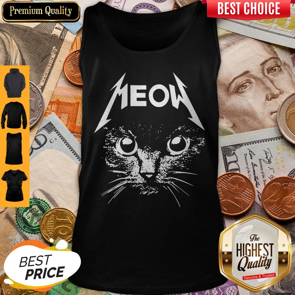Pretty Great Metallica Meowtalica Black Cat Tank Top
