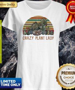 Funny Succulent Plants Crazy Plant Lady Vintage Shirt