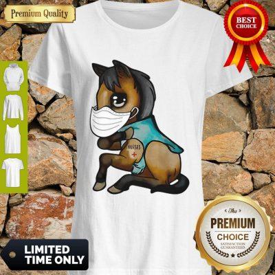Good Horse Mask Nurse Tattoos Coronavirus Shirt