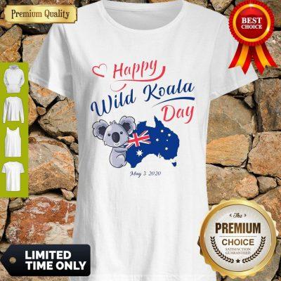 Nice Happy Wild Koala Day May 3 2020 Australia Flag Shirt