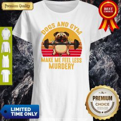 Nice Dogs And Gym Make Me Feel Less Murdery Sunset Vintage Shirt