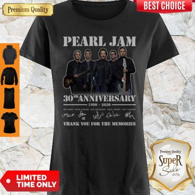 Funny Pearl Jam 30th Anniversary 1990 2020 Signatures Thank You For The Memories Shirt