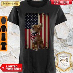 Pretty American Flag Chihuahua Proud Shirt
