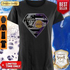 Top Oakland Raiders And Los Angeles Lakers Superman Shirt
