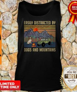 Pretty Easily Distracted By Dogs And Mountains Vintage Tank Top