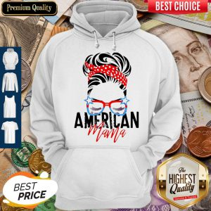 Top American Mama American Flag Veteran Independence Day Hoodie