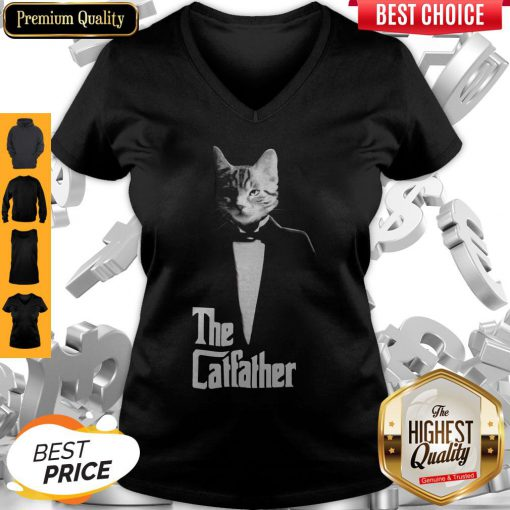 Top The Cat Father V-neck