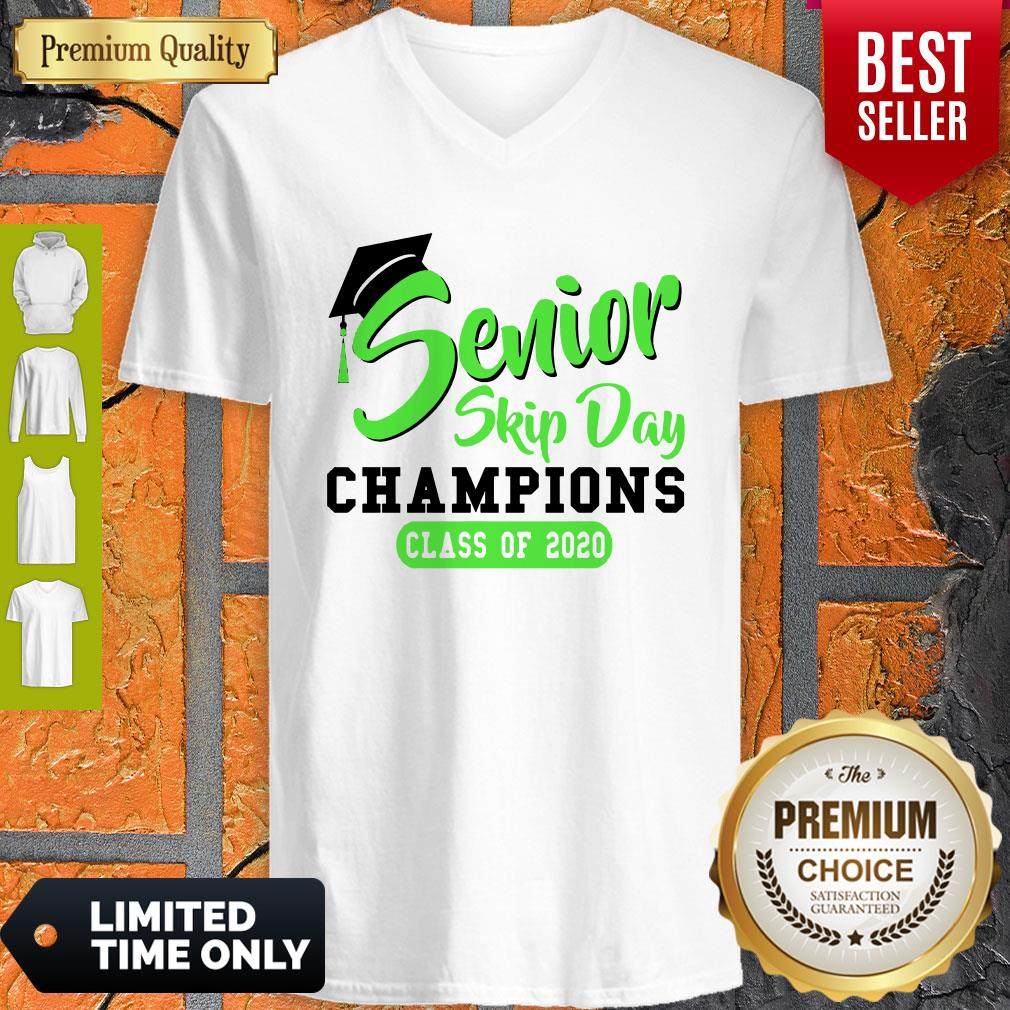 Pretty Senior 2020 Skip Day Champion Class Of 2020 Green V-neck