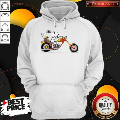 Great Snoopy Riding Motorcycle Hoodie