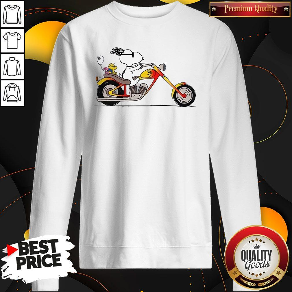 Great Snoopy Riding Motorcycle Sweatshirt
