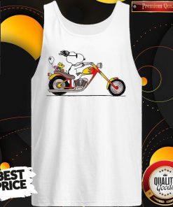 Great Snoopy Riding Motorcycle Tank Top