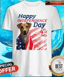 Love Jack Russell Terrier Happy Independence Day 4th Of July American Flag Shirt