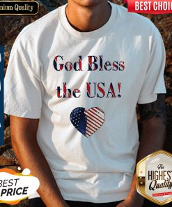Nice God Bless The USA Heart Shirt