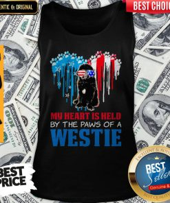 Top Happy The 4th Of July My Heart Is Held By The Paws Of A Newfoundland Tank Top