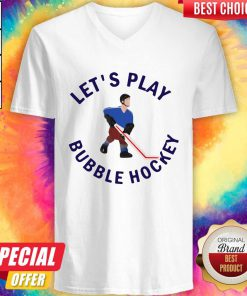Beautiful Let's Play Bubble Hockey V-neck