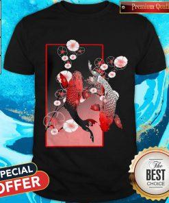 Beautiful Sakura Cherry Blossom Koi Fish Shirt