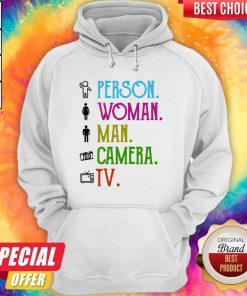 Cool Person Woman Man Camera TV Song Hoodie