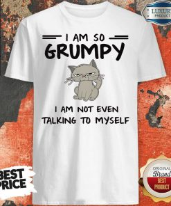 Cute I Am So Grumpy I Am Not Even Talking To Myself Shirt