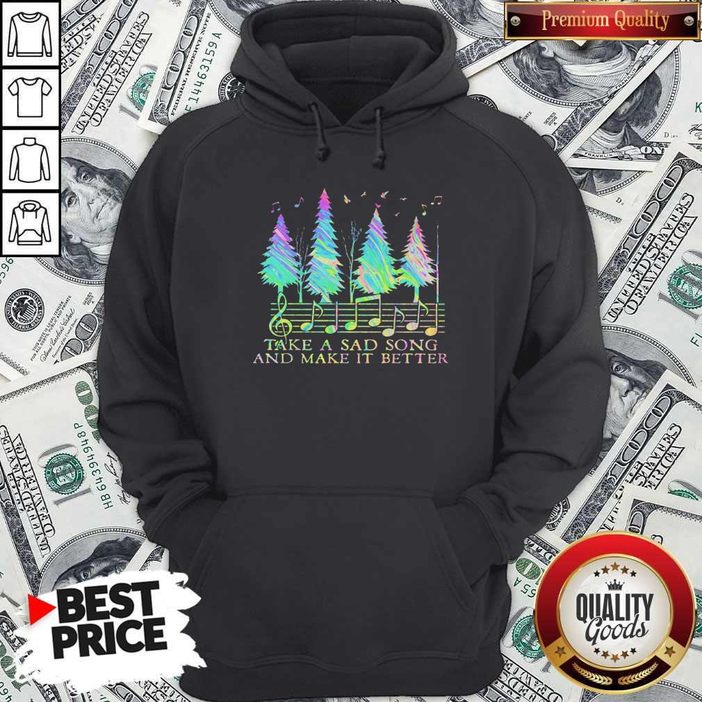 Cute Staves Take A Sad Song And Make It Better Hoodie