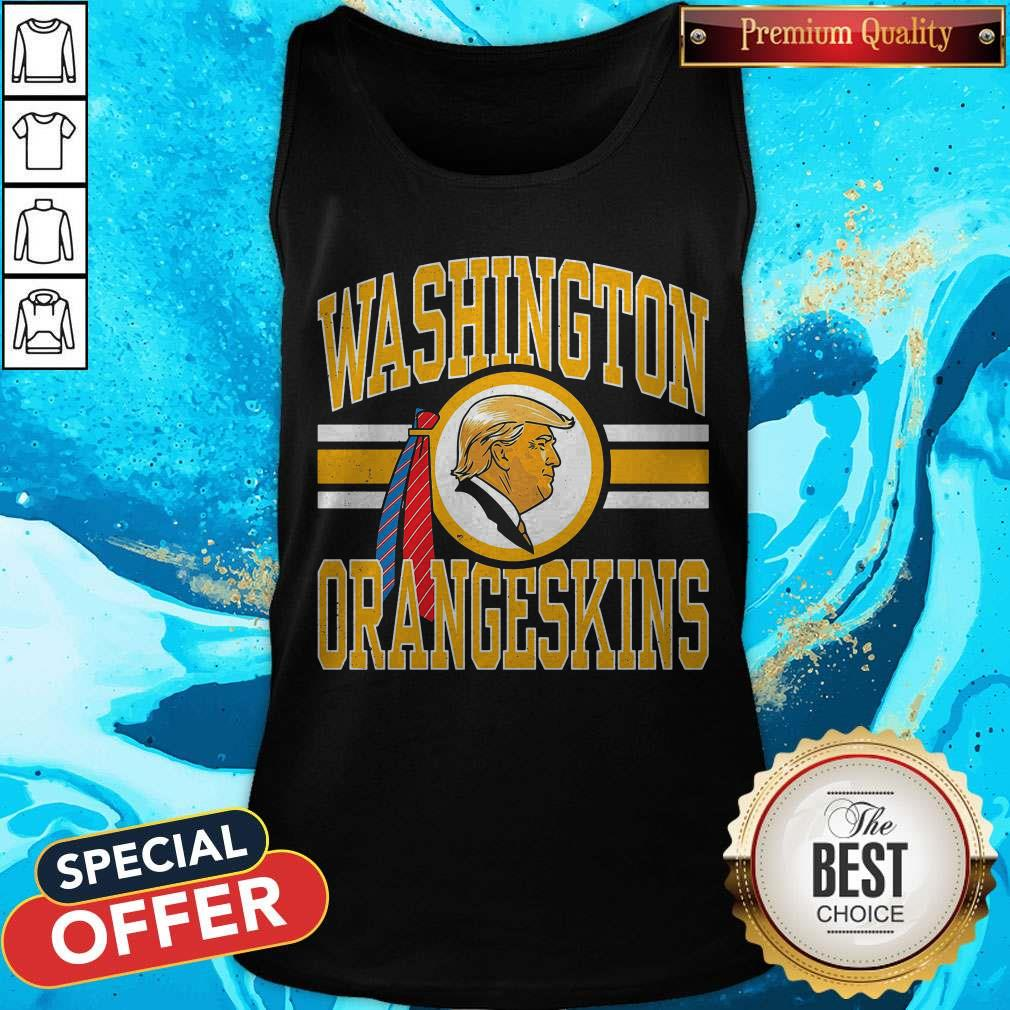 Cute Washington Orangeskins Donald Trump Tank Top