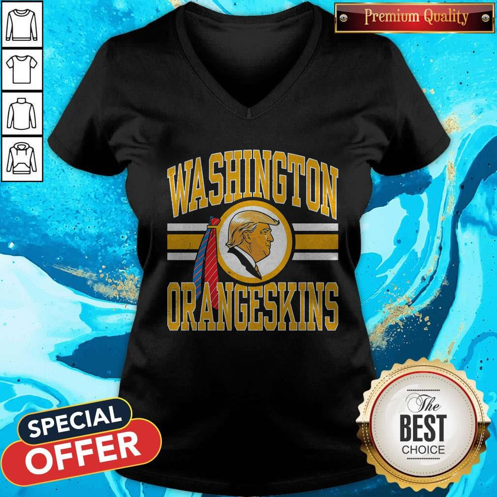 Cute Washington Orangeskins Donald Trump V-neck
