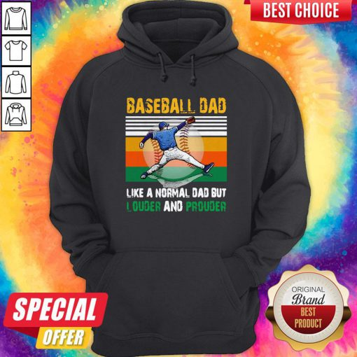 Good Baseball Dad Like A Regular Dad But Cooler Vintage Hoodie