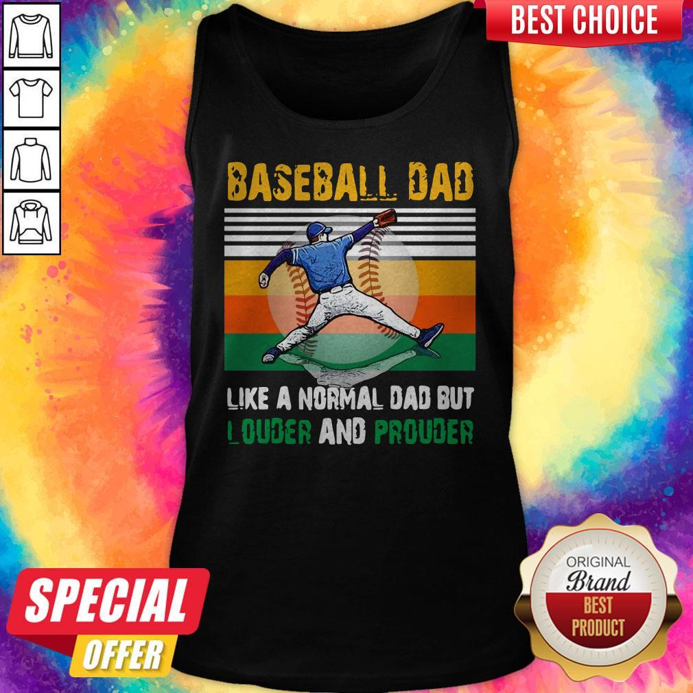 Good Baseball Dad Like A Regular Dad But Cooler Vintage Tank Top