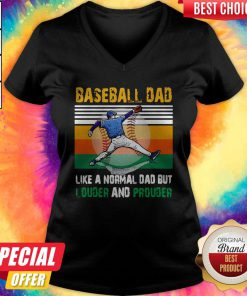 Good Baseball Dad Like A Regular Dad But Cooler Vintage V-neck