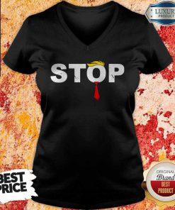Hot Donald Trump Stop Hate V-neck