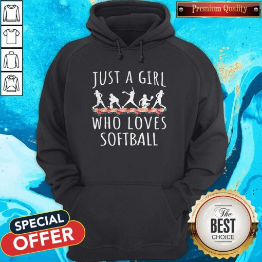 Lovely Softball Just A Girl Who Loves Let Hoodie