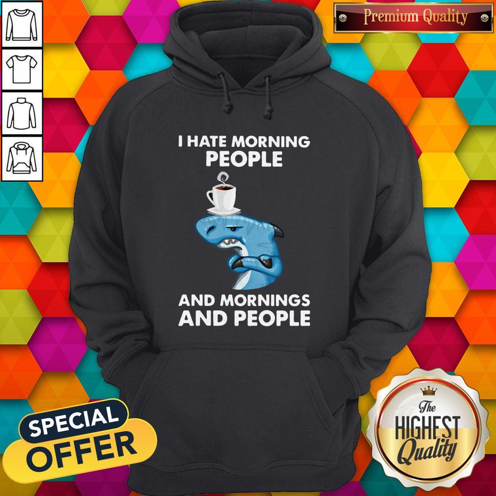 Nike Dolphin I Hate Morning People And Mornings And People Hoodie
