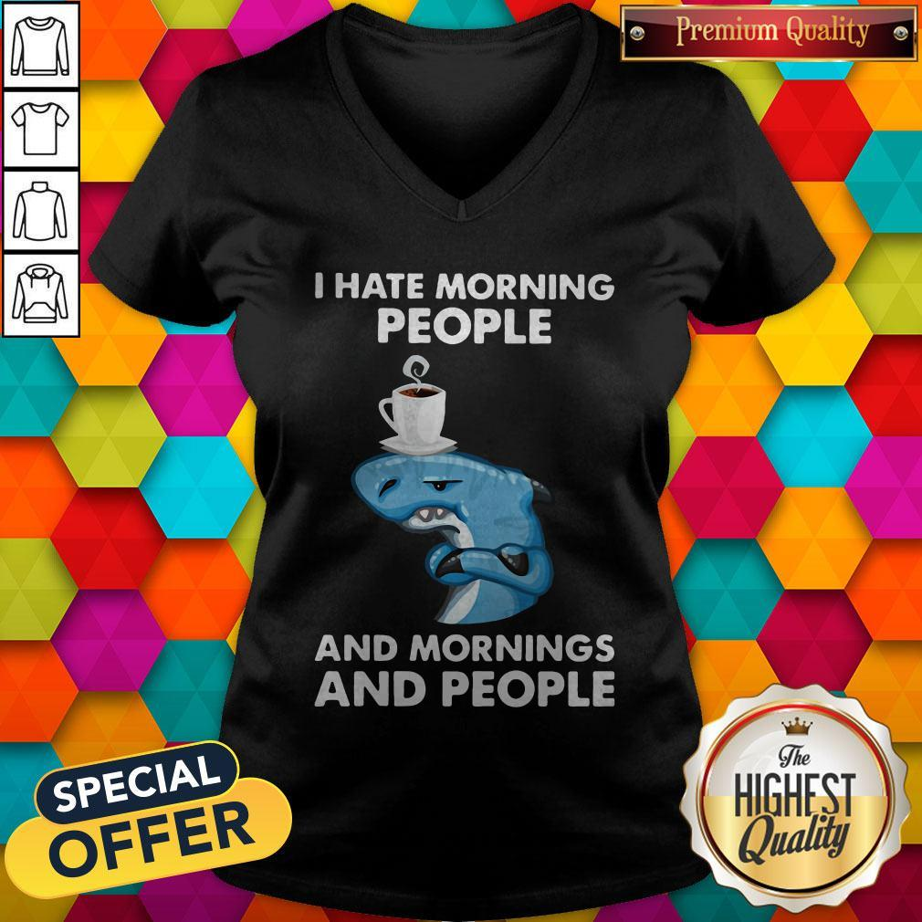 Nike Dolphin I Hate Morning People And Mornings And People V-neck