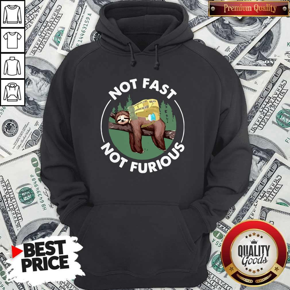 Perfect Sloth Camping Not Fast Not Furious Hoodie