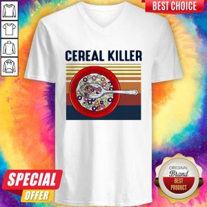 Premium I Want Cereal Killer Vintage V-neck