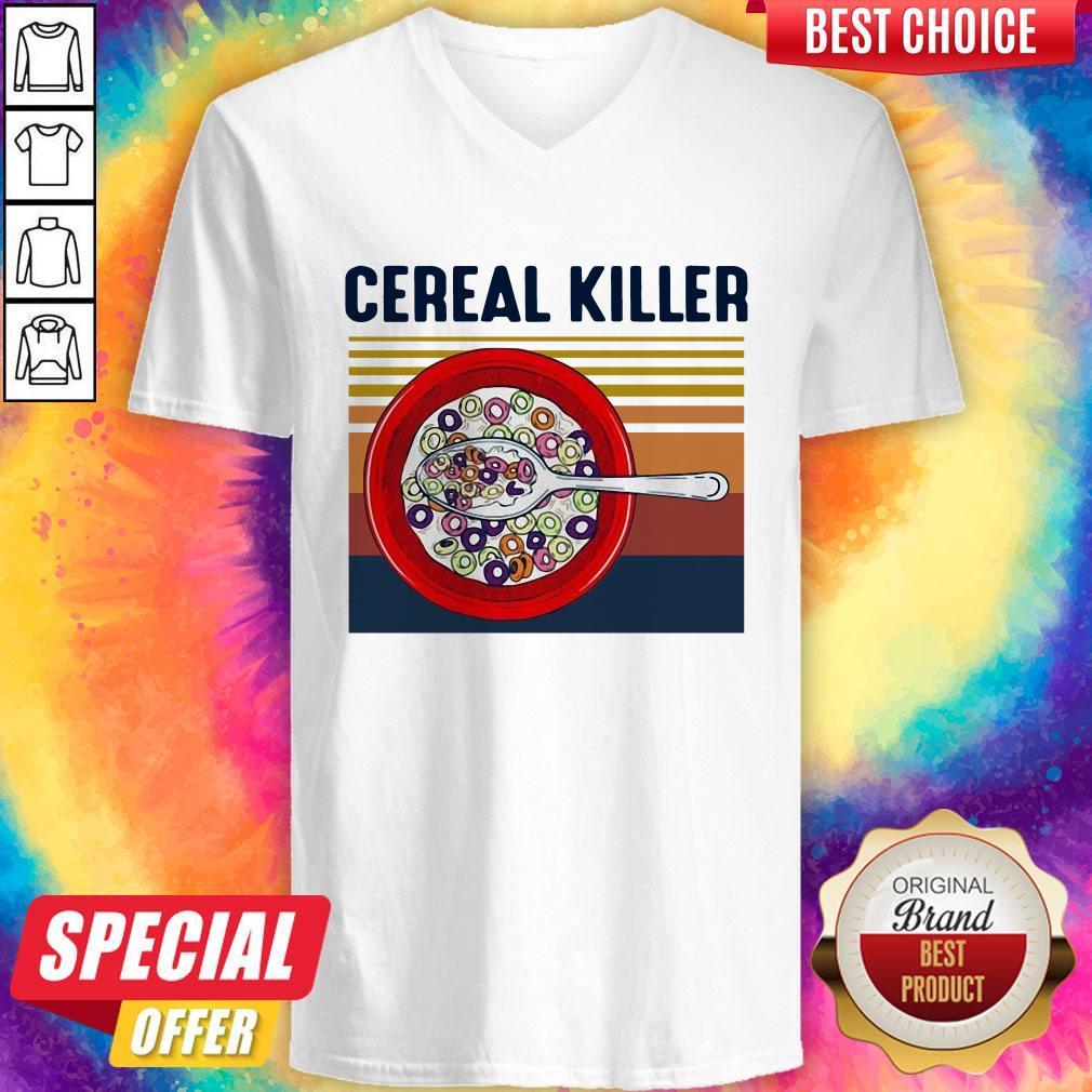 Premium I Want Cereal Killer Vintage V-neck
