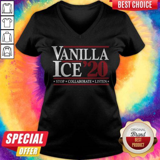 Pretty Vanilla Ice' 20 Stop Collaborate Listen V-neck