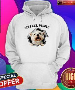 Pro Angry White Terrier Lovers Six Feet People Hoodie