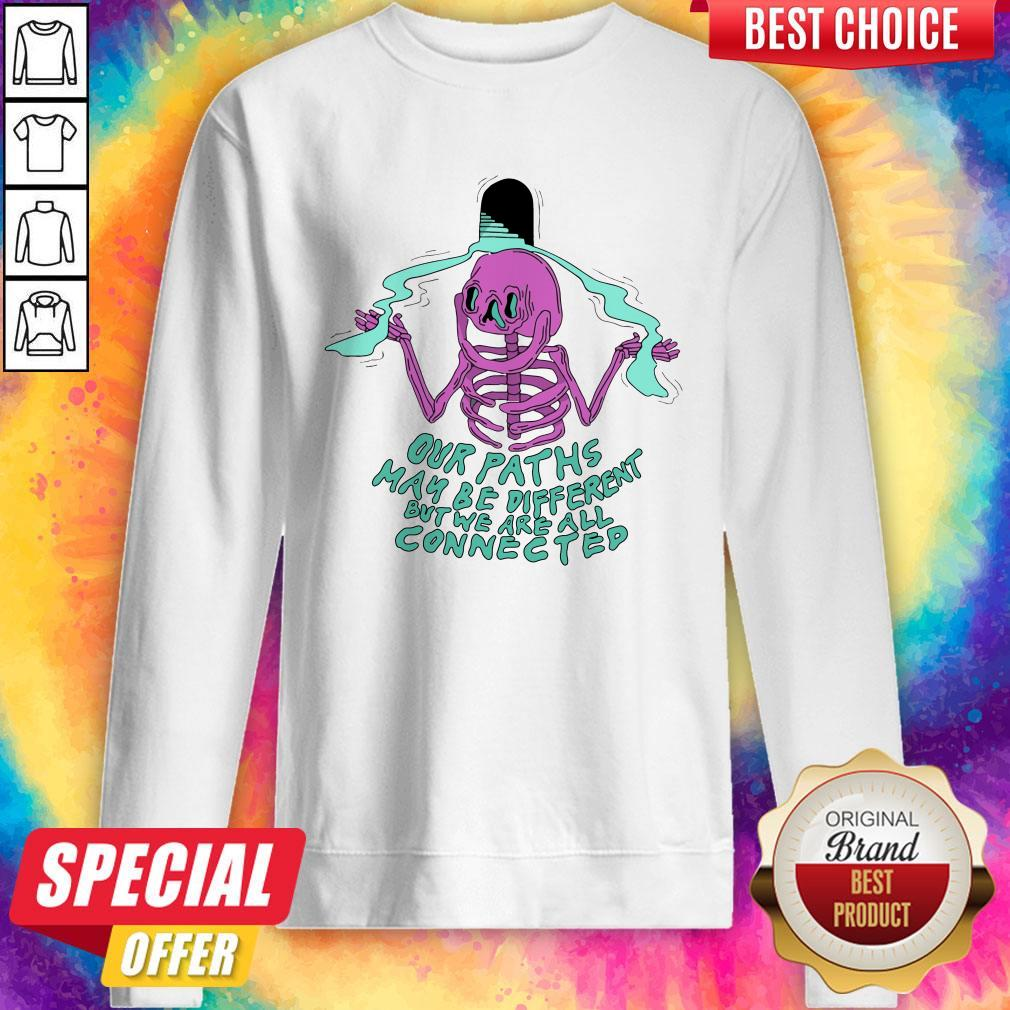Pro Our Path's May Be Different But We Are All Connected Halloween Sweatshirt