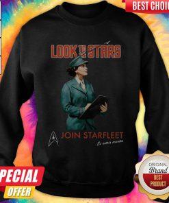 Pro Star Trek Inspired Vintage Recruitment Propaganda Look To The Stars Join Starfleet Ex Astris Scientia Sweatshirt