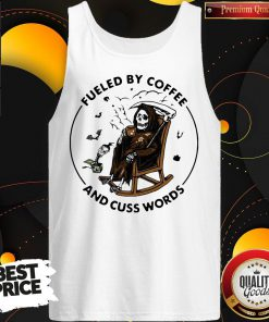 So Skeleton Fueled By Coffee And Cuss Words Tank Top
