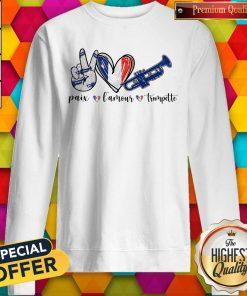 Super Paix Lamour Trompette Sweatshirt