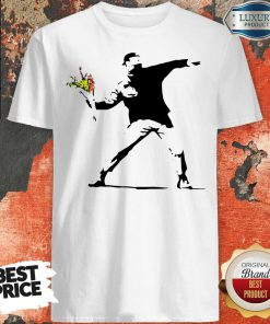 Sweet Banksy Rage Flower Thrower Kids Shirt