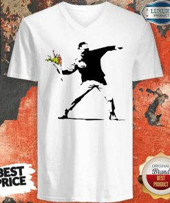 Sweet Banksy Rage Flower Thrower Kids V-neck