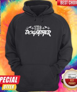 Top The Dogfather Dog Dad Fathers Day Hoodie