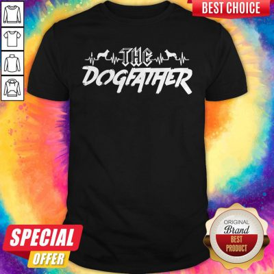 Top The Dogfather Dog Dad Fathers Day Shirt