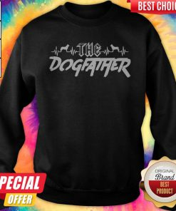 Top The Dogfather Dog Dad Fathers Day Sweatshirt
