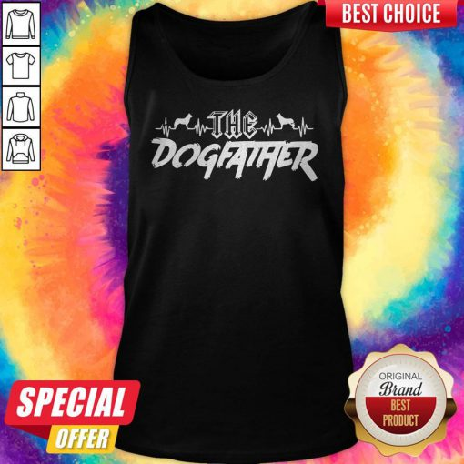 Top The Dogfather Dog Dad Fathers Day Tank Top