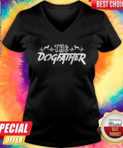 Top The Dogfather Dog Dad Fathers Day V-neck