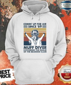 Vip Comin' Up For Air Since' 69 Muff Diver Exploring The Realm Of The Bearded Clam Vintage Hoodie